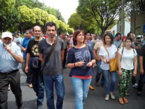 BGN 20150717 Manifestación leite Santiago